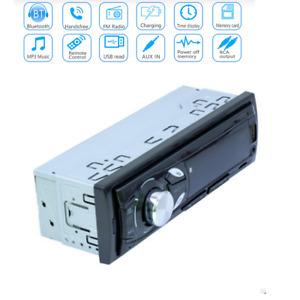 1Din 12V Car In-dash Radio Bluetooth Stereo MP3 Music Player FM/TF/ AUX/USB