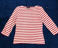 Ladies Saint James l'Atelier Striped Knit Shirt Size 4, Made In France