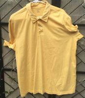 Lands End Polo Shirt Men's S/S Size XL 46-48 Yellow 100% Cotton