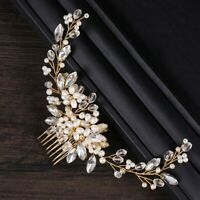 Wire Bridal Hair Comb Wedding Pearl Bead Tiaras Hairband Hair Jewelry Twig Style
