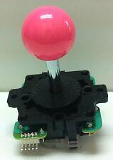 Japan Sanwa Joystick Pink Ball Top Arcade Parts JLF-TP-8Y-P