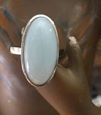 Amazonit 925er Silberring, rhodoniert, Größe 18