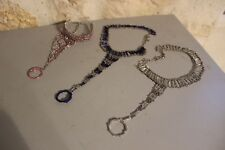 Lot de 3 bracelets de pieds cheville Bijoux fantaisie - Import d'Inde Neuf - 18