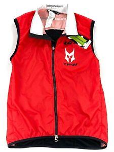 NEW Louis Garneau Men's Full Zip Road Warriors Cycling Vest Red • Medium