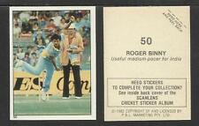 AUSTRALIA 1982 SCANLENS CRICKET STICKERS SERIES I - ROGER BINNY (INDIA) # 50