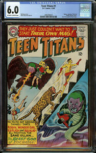 Teen Titans #1 DC Comics 1966 CGC 6.0 Off-White to White Pages