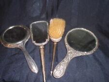 ART DECO STERLING BRUSH & MIRROR VANITY SET BIRMINGHAM D 1928/29 +1 800 mirror