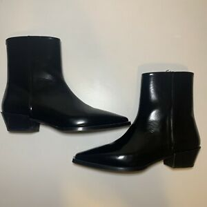 Aeyde Ruby Leather Ankle Boots Sz 39