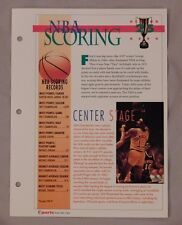 Wilt Chamberlain NBA Scoring Record Book #25 Sports Heroes Sheet