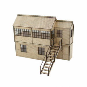 Railway Signal Box Plywood Kit - OO Gauge (1:76 Scale) Detail Model with Steps