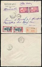 FRENCH SAHARA WW2 REGISTERED AIRMAIL J1 CIRCLED 1940 MOPTI GAO...WATCHI + CO ENV