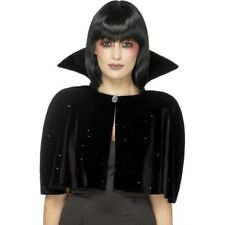 Evil Queen Cape Ladies Halloween Fancy Dress Accessory Black Cape One Size