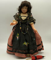 "Vintage Antique 14"" Celluloid Le Minor Petitcollin France Doll Eagle Mark 35"