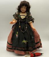 "Vintage Antique 14"" Celluloid Le Minor Petitcollin France Doll Eagle Mark 35"