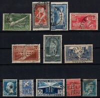 PP135431/ FRANCE STAMPS – YEARS 1923 - 1934 USED SEMI MODERN LOT – CV 146 $