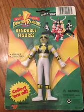 "Power Rangers White Ranger Bendable Sealed 5.25"" Figure Gordy Toy 1994"