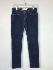 Abercrombie & Fitch Size 00S Erin Straight Dark Blue Stretch Denim Juniors Jeans