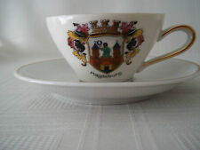 Fine china Demi Tasse Set city MAGDEBURG PRE IRON CURTAIN Germany, COAT OF ARMS