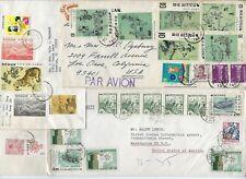 Korea 1960s Sammlung Of 9 Gewerblicher Luft Post Abdeckungen All To The Us