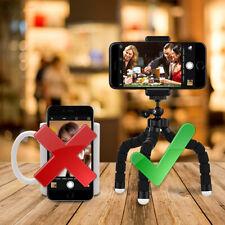 Octopus Tripod Stand Gorilla Sponge Pod+Phone Clip for GoPro SJCAM IPhone NEW CG