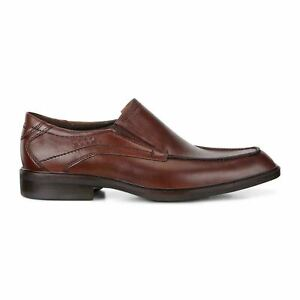 Mens NEW ECCO Windsor Brown Leather Slip-On Dress Shoes Sz 5 ($200 Value)