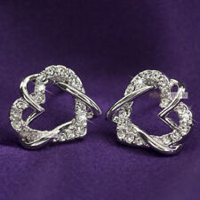 Crystal White Gold Plated Stud Fashion Earrings