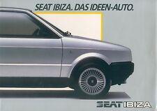 Seat Ibiza folleto 1984 brochure auto turismos auto folleto folleto España