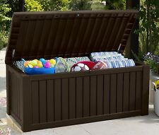 Storage Deck Box Outdoor Container Bin Chest Patio Keter 150 Gallon Bench Seat