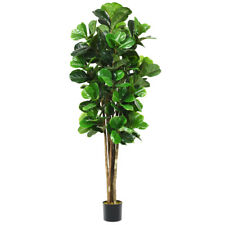 6 Feet Artificial Fiddle Leaf Fig Tree Indoor Outdoor Home Decorative Planter