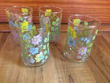Set Of 4 Vintage Spring Meadow Corelle Juice Glasses