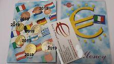 2019 ITALIA 8 monete 3,88 EURO Italie Italy Italien 2 € Dante Alighieri Италия