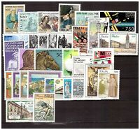 S17831) Italy MNH 1988 Complete Year Set 39v Year Complete (2 Scans)