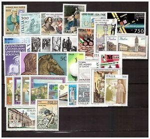 s17831) ITALIA MNH** 1988 Complete Year set 39v Annata Completa (2 scans)