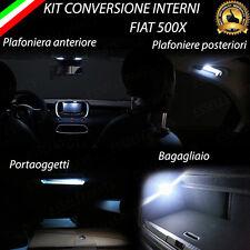 KIT FULL LED INTERNI FIAT 500X PLAFONIERA ANT+POST+PORTAOGGETTI+BAGAGLIAIO 6000K