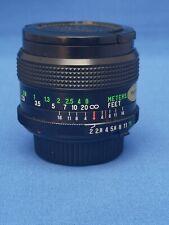 Fast Vivitar (Kino) 28mm f2 MC Lens in Excellent Condition MD/SR Mount