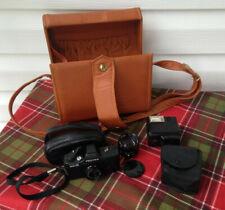 Asahi Pentax 110 Camera w/Flash Extra Lens & Case