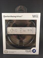 Official Nintendo Wii Comfort Racing Wheel Black Allows Maximum Remote-to-Sensor