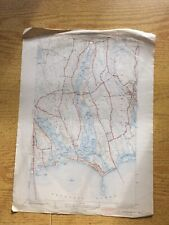 "1940s Westport U.S. Geological Survey Map 20""X15"" MA Horseneck Beach"