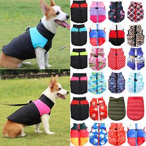 Winter Warm Pet Dog Vest Small Dog Clothes Puppy Coat Jacket Pet&Cat Clothes UK+