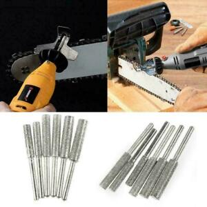 10pcs Emery Grinding Head Diamond Chainsaw Sharpener C3S3 File Burr A0H7