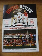 25/09/1982 Manchester United v Arsenal  (Crease)