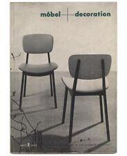 1955 Italian Feature MOEBEL+DECORATION mag Modern FURNITURE Fabric LAMP Design