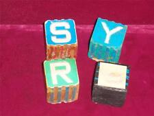 Baby toy alphabet blocks   Antique