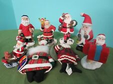 Holiday Santa Christmas Figure Figurine Lot Collection Ornaments Decoration
