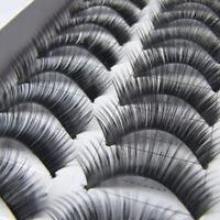 Neu 10 Paar natürliche dick Falsche Wimpern Eye Lashes Verlängerung Makeup.