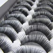 10 paires Faux-cils épais Noir naturel Manuel cils Extension maquillage beauté