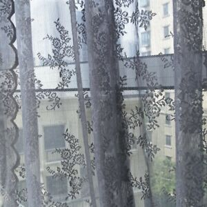Lace String Door Curtain Hanging Wall Panel Doorway Room Divider Home Decor Gray