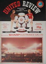 Programma UEFA CUP 1984/85 Manchester United-Videoton