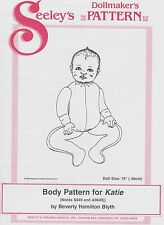"""SEELEY'S DOLLMAKERS BODY PATTERN KATIE 19"""" BABY DOLL NEW UNCUT BY BEVERLY BLYTH"""
