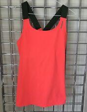 Reebok Tank PlayDry Pink Wicking Workout Gym Shirt Top size M UK 10 cross strap